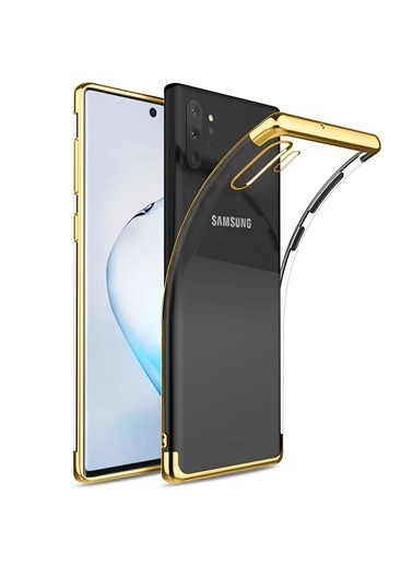 Microsonic Samsung Galaxy Note 10 Plus Kılıf Skyfall Transparent Clear Gold Altın